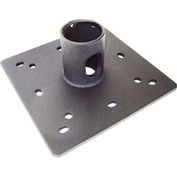 "1.5"" NPT Ceiling Plate With Cable Pass Through - Black"