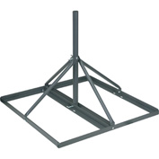 "Non-Pentrating Roof Mount - 2"" OD and 30"" Long - Gray"