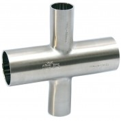 MaxPure TE9RWWWW6L.75X.5-PD  BPE Series 3/4 x 1/2 Reducing Cross, T316L Stainless, Weld Connection