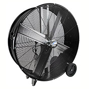 "MaxxAir™ Pro Series 42"" Belt Drive Portable Barrel Fan, 13300 CFM, Black, BF42BDBLKPRO"