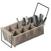 Vollrath, Flatware Basket W/ Handles, 1372, 8-Compartment, 5-7/8