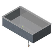 Non Refrigerated Cold Pan 3 Pan Drop-In