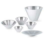 2.5 Qt Conical Double Wall Bowl