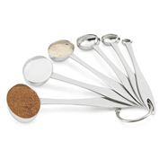 6 Pc Oval Measuring Spoon Set - Pkg Qty 12