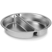 Divided Round Food Pan