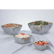 Stainless Steel Square Bowl - Double Wall Beehive 1.77 Qt - Pkg Qty 12