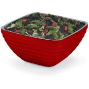 Vollrath, Square Insulated Serving Bowls, 4763715, 8.2 Quart, Dazzle Red Package Count 3