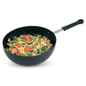 Carbon Steel Induction Stir Fry Pan with Silicone Handle - 11""