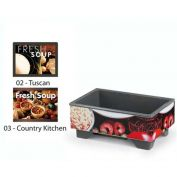"Vollrath, Full-Size Soup Merchandiser Base W/ Country Graphic, 720200003, 18-1/4"" X 26"" X 11"""