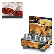 Cayenne® - 4 Qt. Full Size Merchandisers with Menu Board - White Bowl