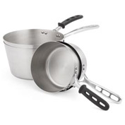 4 Qt Stainless Steel Saucepan/Trivent Silicone Handle - Pkg Qty 4