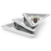 "Vollrath® Small Triangular Tray - 13"" Dia. - Pkg Qty 3"