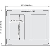 Miramar™ Satin SS Double Well Template- 2 Rectangles