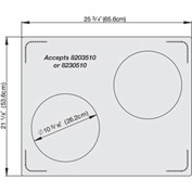 Miramar™ Plain SS Double Well Template- 2 Casserole