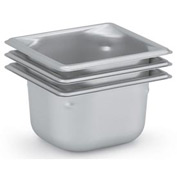 Vollrath® 1/6 Size Super Pan 3® 90622 Pan 65mm, 2-1/2d - Pkg Qty 6