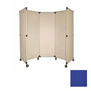 Portable Mobile Room Divider, 6' Blue