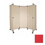Portable Mobile Room Divider, 6' Red