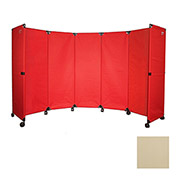"Portable Mobile Room Divider, 6'x10"" Beige"