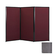 "Privacy Screen, 70"" Polycarbonate, Gray"