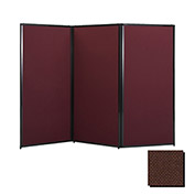 "Privacy Screen, 80"" Fabric, Chocolate Brown"