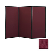 "Privacy Screen, 80"" Fabric, Cranberry"