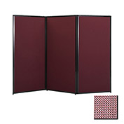 "Privacy Screen, 80"" Fabric, Wine"