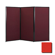 "Privacy Screen, 80"" Fabric, Red"