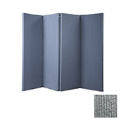 "VersiFold Portable Acoustical Partition, 8' x 6'6"", Gray"