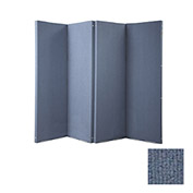 "VersiFold Portable Acoustical Partition, 8' x 6'6"", Blue"