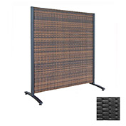 Wicker Partition Indoor/Outdoor 4' Black