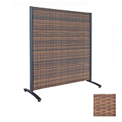 Wicker Partition Indoor/Outdoor 4' Tan