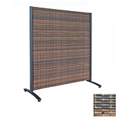 Wicker Partition Indoor/Outdoor 4' Brown