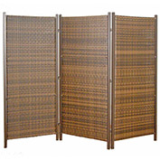 Wicker 3 Partition Panel, Brown, Steel