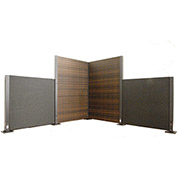 Wicker Modular Partition Panel Brown 4'