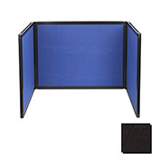 Tabletop Display Partition 24x78 Fabric, Black