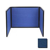 Tabletop Display Partition 24x78 Fabric, Navy Blue