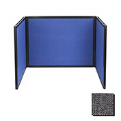 Tabletop Display Partition 24x78 Fabric, Charc Gray