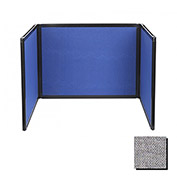 Tabletop Display Partition 24x78 Fabric, Cloud Gray