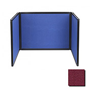 Tabletop Display Partition 24x78 Fabric, Cranberry