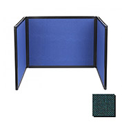 Tabletop Display Partition 24x78 Fabric, Forest Green