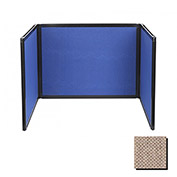 Tabletop Display Partition 24x78 Fabric, Rye