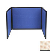 Tabletop Display Partition 24x78 Fabric, Sand