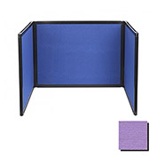 Tabletop Display Partition 24x78 Fabric, Purple