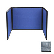 Tabletop Display Partition 24x99 Fabric, Powder Blue