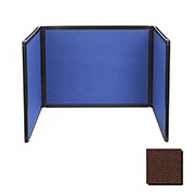 Tabletop Display Partition 36x78 Fabric, Chocolate Brown