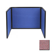 Tabletop Display Partition 36x78 Fabric, Wine