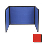 Tabletop Display Partition 36x78 Fabric, Red