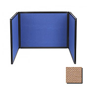 Tabletop Display Partition 36x99 Fabric, Beige