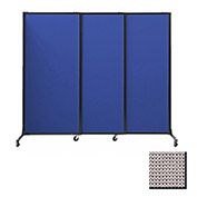 "Portable Acoustical Partition Panels, Sliding Panels, 70""x7' Fabric, Slate"