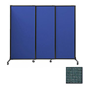 "Portable Acoustical Partition Panels, Sliding Panels, 80""x7' Fabric, Evergreen"